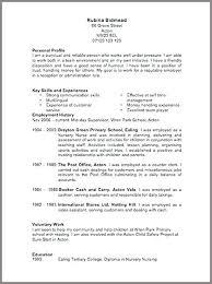 Format British Cv Template Doc Onlineemily Info