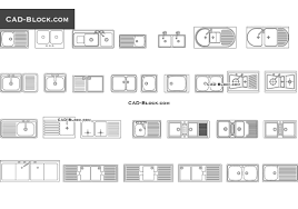 kitchen sink set cad blocks autocad file