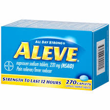 Aleve Naproxen Sodium Pain Reliever Fever Reducer 220mg 270 Count