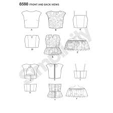 Crop Top Pattern Interesting Pattern 48 Womens Special Occasion Tops New Forest Fabrics