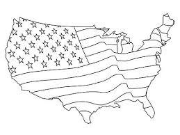 Usa Flag Coloring American Page Crayola Small Ilovezclub