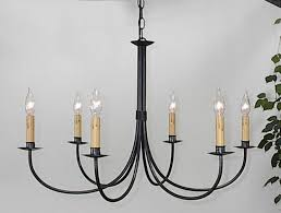 elegant rod iron chandelier on ace wrought plain six arm by clayton j bryant