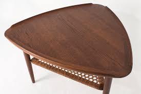 guitar pick side table by poul jensen for selig danish modern 3 sided