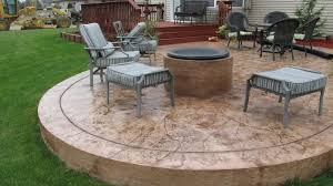 stamped concrete patio with fire pit cost. Exellent Patio Stamped Concrete Patio With Fire Pit Ideas Default Colored How To Make  Cement Outdoor For Slab In Backyard Decorating Porch Covering Inexpensive Ways Cover  Throughout Cost C