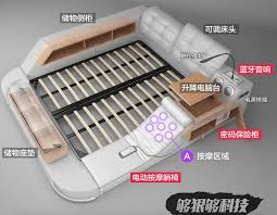 massage chair bed. it comes with a built-in massage chair, bookshelf, music system, and safe! chair bed r