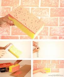 DIY BRICK DESIGN FROM A RECTANGLE SPONGE  Home Wall PaintingPainting ...