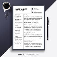 Modern 2020 Resume Editable Professional Resume Template 2020 Cv Template Word Creative Modern Resume College Student Resume Fresh Graduate Resume Internship