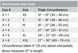 Knee Brace Size Chart Shortrunner Soft Knee Brace Breg Inc