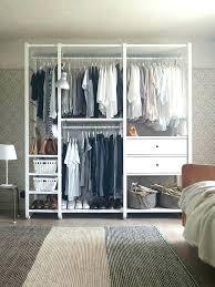 freestanding closet kit double rod diy steel wardrobe pulsemag org pertaining to build free standing ideas 13