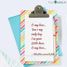 Little Boy Quotes Impressive O My Love You R My Onl Quotes Writings By Suruchi Jha