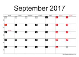 Printable September 2017 Calendar Archives Printable