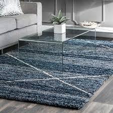 nuloom handmade contemporary modern diamond trellis area rug in blue