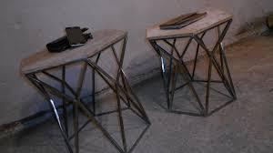 diy metal coffee table geometric design metal base part 1