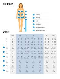 Womens Snowboard Length Chart Women Size Chart Without Model Odlo