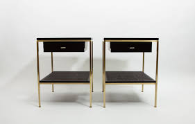 gold bedside table. Unique Table ReGeneration Ebonized Wood Bedside Tables With Brass Frames And Caned  Shelves Pop Artist Dylan In Gold Bedside Table O