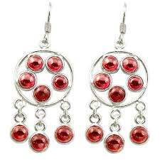 earrings image earringsimage holiday natural red garnet 925 sterling silver chandelier earrings jewelry d15853