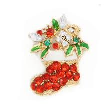 online get cheap christmas gift coupons com alibaba christmas gift fashion gorgeous gold toned festive christmas boot crystal brooch pin cy029 coupon