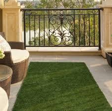 ottomanson garden grass collection indoor outdoor artificial solid grass design runner rug 20 x 59 green turf ottomanson