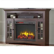 home decorators collection avondale grove 48 in tv stand infrared electric fireplace in aged black 258 102 170 y the home depot