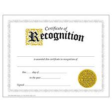 Certificate Recognition Certificate Of Recognition Large 30 Pack