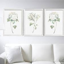watercolor painting flower wall art