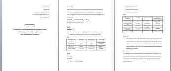 Chemistry Lab Report Answers Chemistry Lab Resources For Chm 1xx