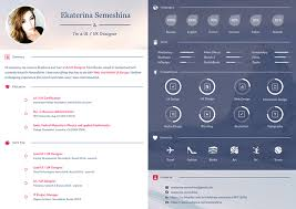 User Experience Designer Resume Gorgeous UI UX Designer Curriculum Vitae On Behance