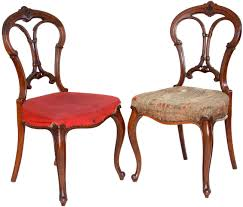 2 Antique Victorian Balloon Back Chairs - Carved and Upholstered - Click to  Zoom