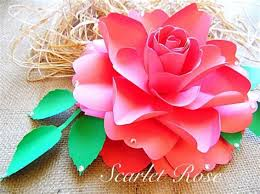 Diy Giant Paper Rose Flower How To Make Large Paper Flowers Easy Diy Giant Paper Flower