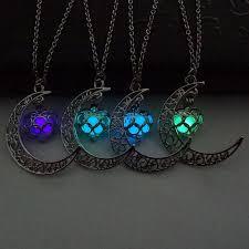 crescent moon heart glow in the dark necklace charming jewelry luminous chain 1459473024 4628 jpg 1459473022 097 jpg