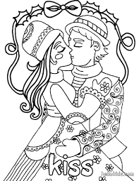 Small Picture Kiss and love coloring pages Hellokidscom