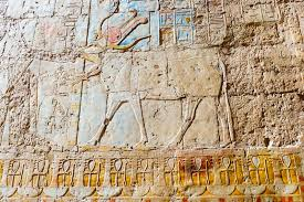 wall paintings in temple of hatshepsut in egypt stock photo image of africa