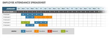 Vacation And Sick Time Tracking Spreadsheet Free Attendance Spreadsheets And Templates Smartsheet