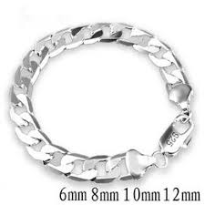 1PC 925 Sterling Silver Bracelets Fashion Jewelry Gifts ... - Vova