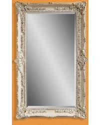 white leaning floor mirror. Antique White Wall / Leaning Floor Mirror - 43W X 69H In. M2935BEC F