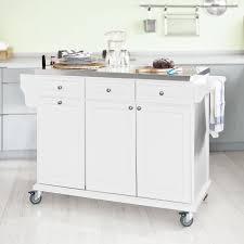 SoBuy Neu Luxus Küchenwagen mit Edelstahlplatte Küchenschrank