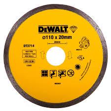 dewalt diamond tile cutting blade 110mm x 20mm to fit the gmc wet stone cutter