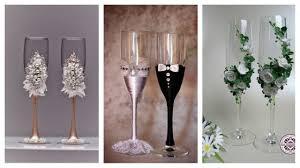 easy diy diy tutorial wedding glasses