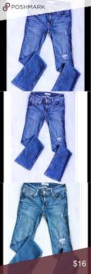 Hollister Distressed Bootcut Jeans Hollister Distressed