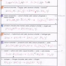 word equations worksheet chemical reactions tessshlo