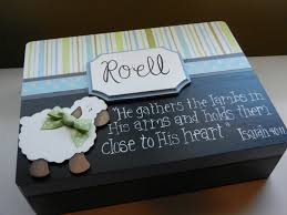 Memory Box Decorating Ideas KeepsakeMemory BoxBereavement Baby Boy Sheep 13