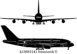 空港 平面図 ベクトル Illustration 着陸 パッド そして 飛行機