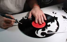 picture of cut the vinyl on wall art vinyl records with how to make a custom vinyl record clock 13 steps