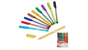 <b>Kores Ручка</b> шариковая K1-M в пластиковом пенале 10 шт ...