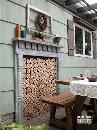 diy faux fireplace indoor or outdoor