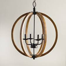 vineyard orb 4 light chandelier sy metal and wood frame for durability details