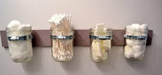 Cheap canning jars Glass Mason Mason Jar Bathroom Storage Homedit Best 35 Diy Easy And Cheap Mason Jar Projects