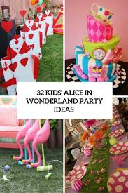 Alice In Wonderland Decoration 32 Kids Alice In Wonderland Party Ideas Shelterness