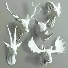 animal heads on wall animal head bust wall decor deer buck rhino antelope bust animal heads on walls animal head wall art nz