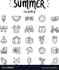 Summer Icons Summer Icons Outlined